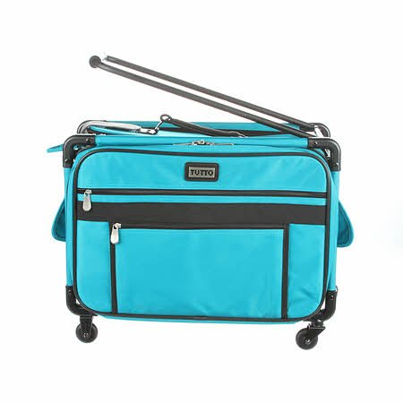 Tutto Machine Case On Wheels Med 20 Turquoise