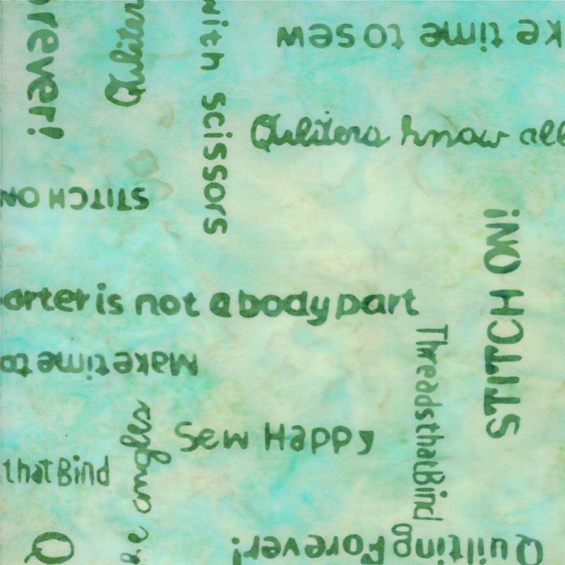 Pat Sloan - Bobbins & Bits Batiks -  Barely Blue