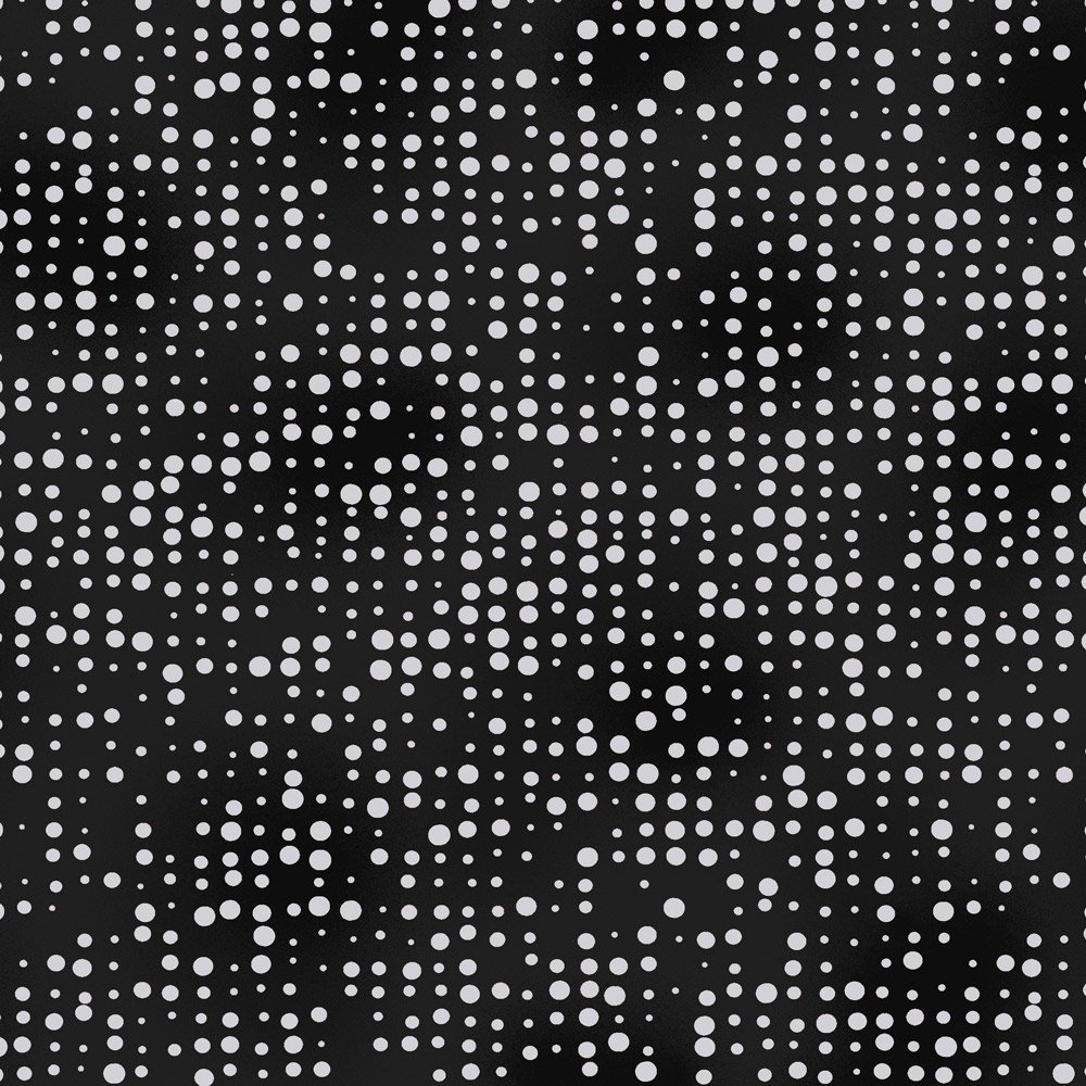 Stof Amazing Stars  - Black with Dots 4594-907
