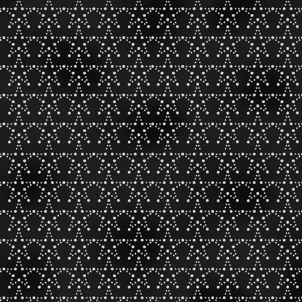 Stof Amazing Stars  - Black with Stars 4594-908
