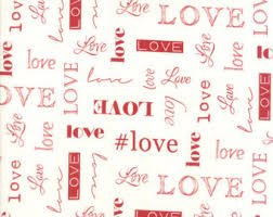 Love White with Red Words