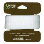 CREATIV DACOR Webbing 25mm x 1.2m (1 x 1 1/4yd) - White