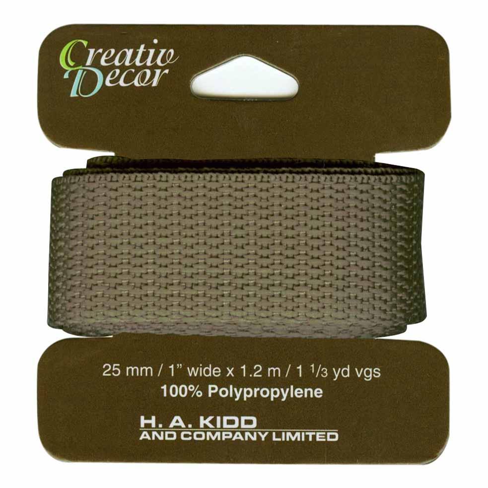 CREATIV DACOR Webbing 25mm x 1.2m (1 x 1 1/4yd) - Khaki