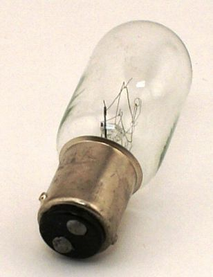 Bulb Bayonet Long Glass 15W 120V