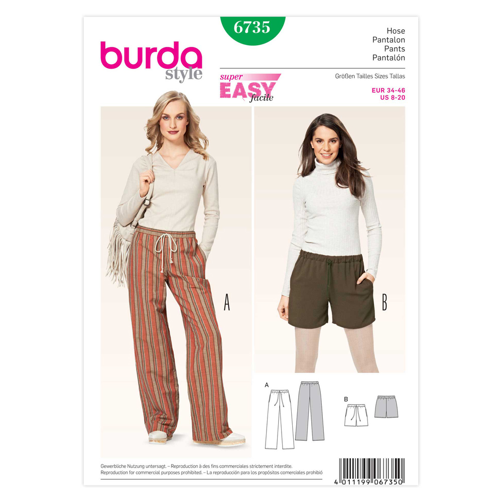 BURDA - 6735 Ladies Pants