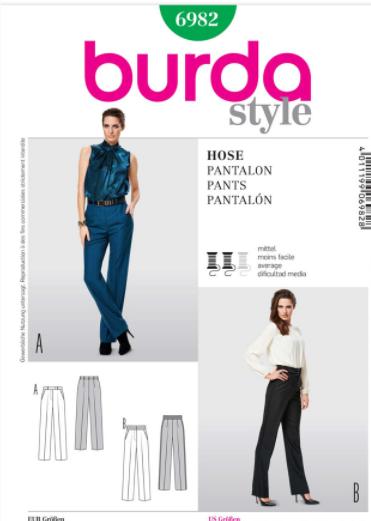 BURDA - 6982 Ladies Pants