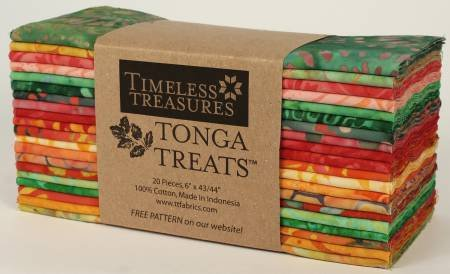 Tonga Batik Watermelon  - 6PACK-WATE - 6in Strips 20pcs/pack