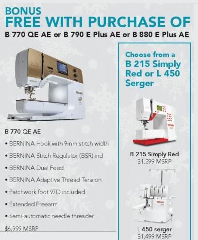 Bernina 770 Machine Sewing Embroidery Machine - Anniversary Edition