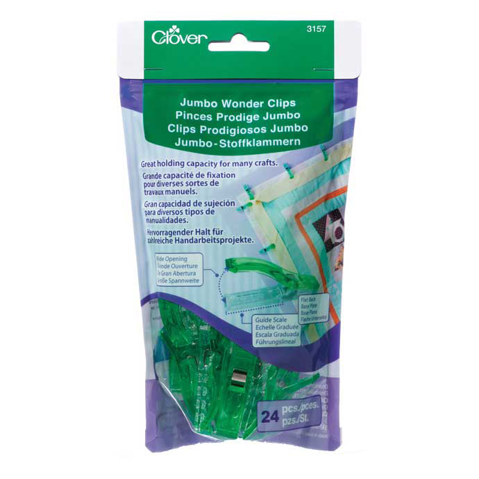 CLOVER 3157 - Jumbo Wonder Clips - 24pcs.