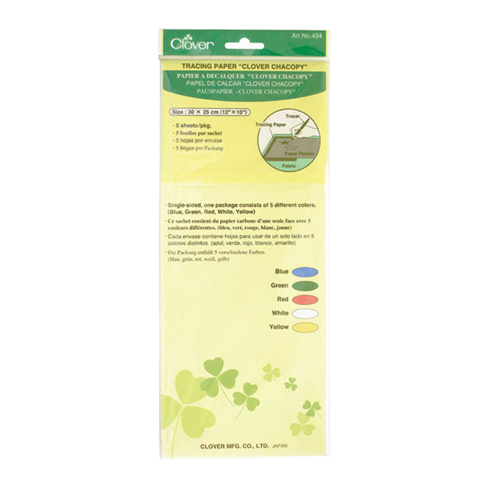 CLOVER 434 - Tracing Paper Chacopy - 5 Sheets