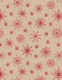 Jennifer Pugh Plaid for the Holidays Cream Snowflake