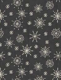 Jennifer Pugh Plaid for the Holidays Grey Snowflake
