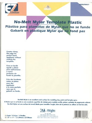 No-Melt Mylar Template Plastic - 6 Sheets 8.5 X 11