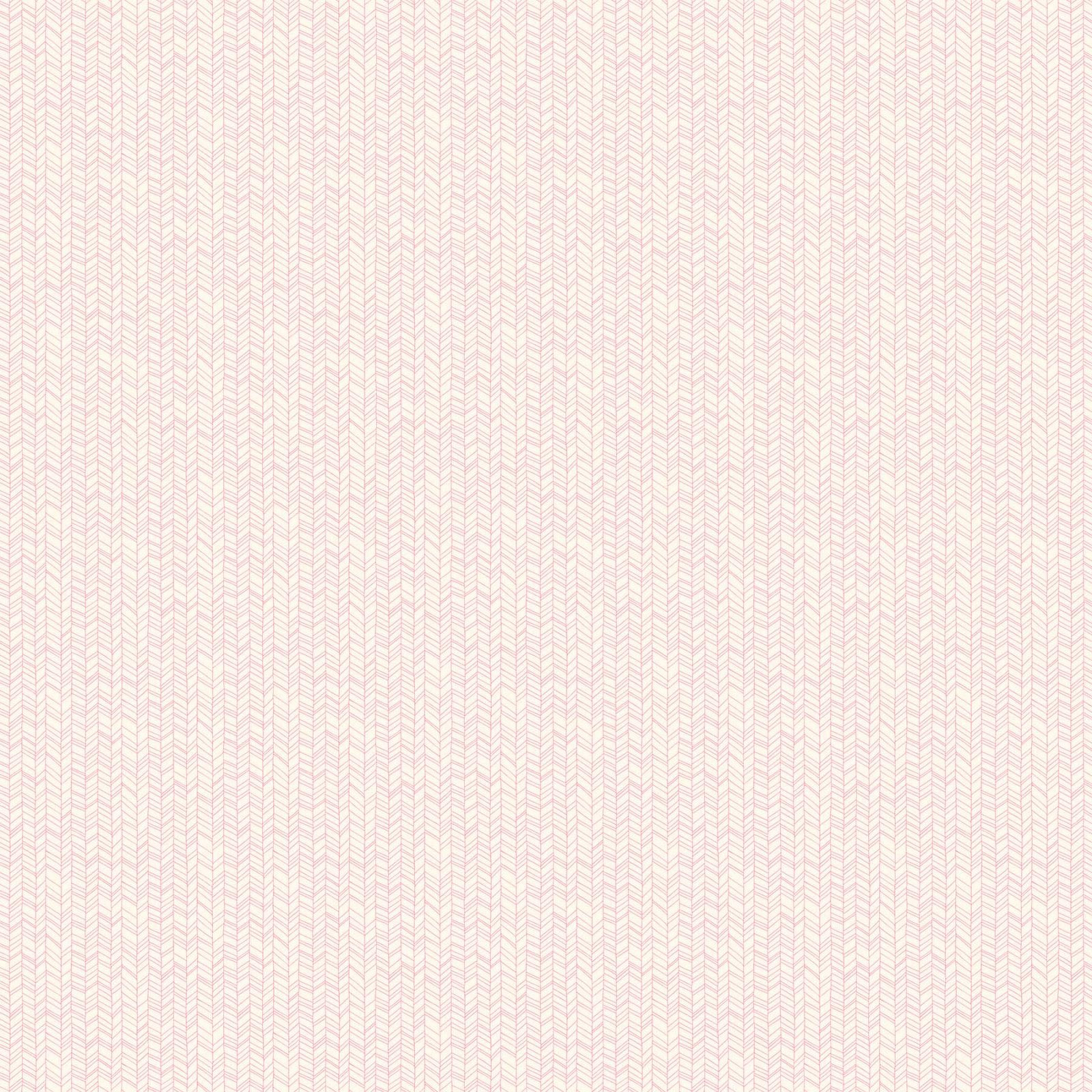 FIGO Fabrics - Mountain Meadows - Pink on White - 90007-21