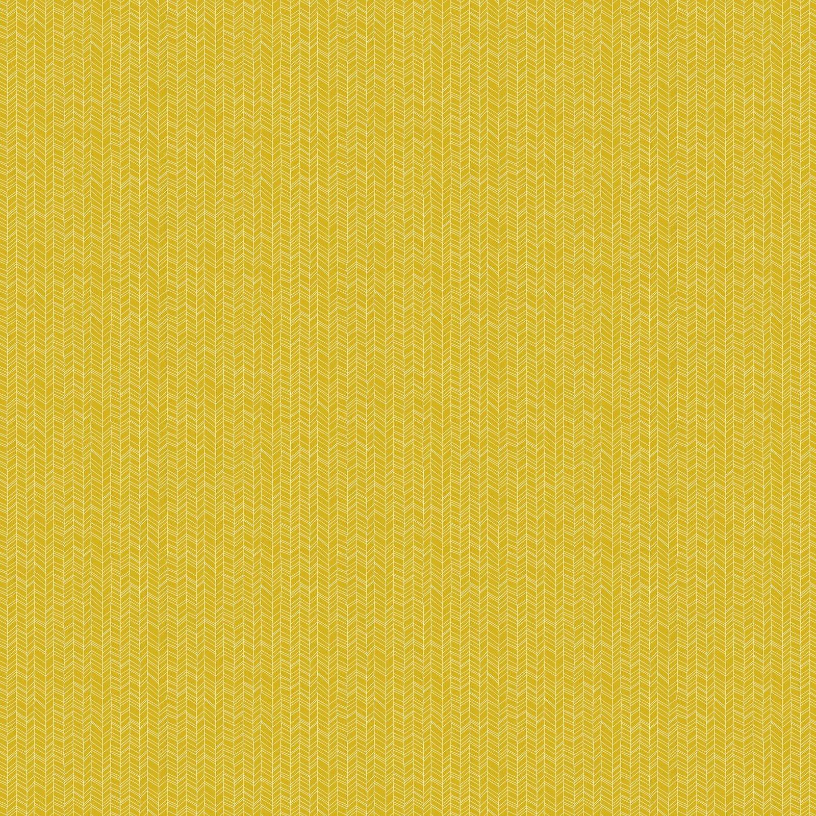FIGO Fabrics - Mountain Meadows - White on Gold - 90007-53