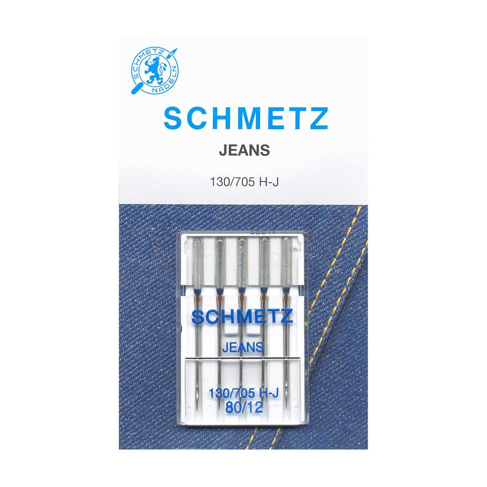 SCHMETZ Denim Needles Carded - 80/12 - 5 Pieces