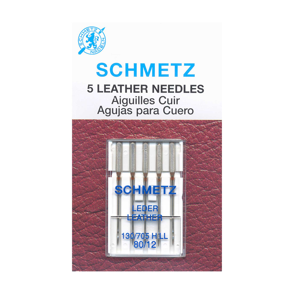 SCHMETZ Leather Needles Carded - 80/12 - 5 Pieces