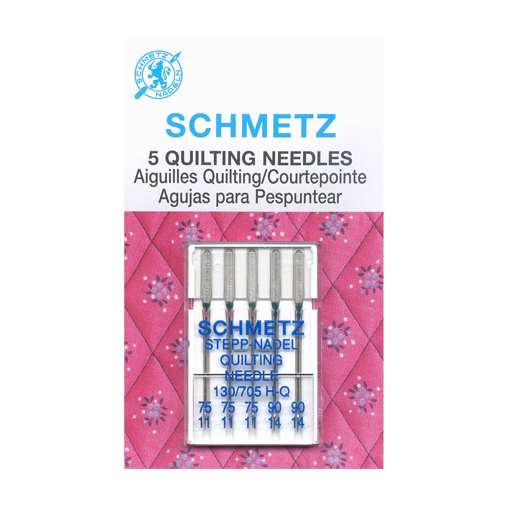 SCHMETZ Quilting Needles Carded - Assorted Sizes - 5 Pieces