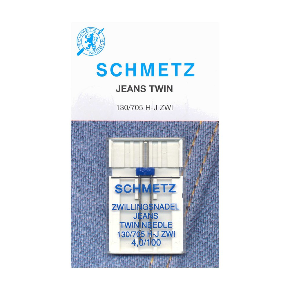 SCHMETZ Denim Twin Needles Carded - 100/16 4mm - 1 Piece