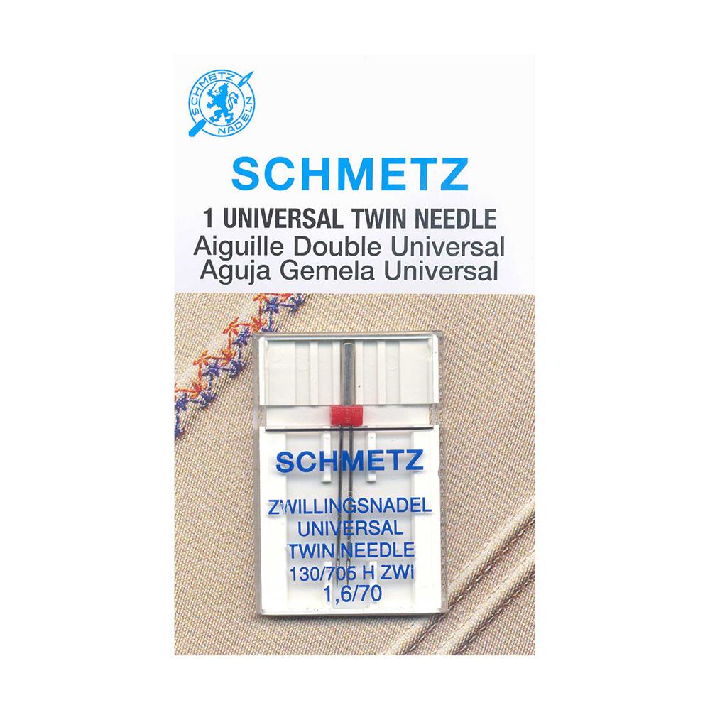 SCHMETZ Twin Needle Carded - 70/10 - 1.6mm - 1 Piece