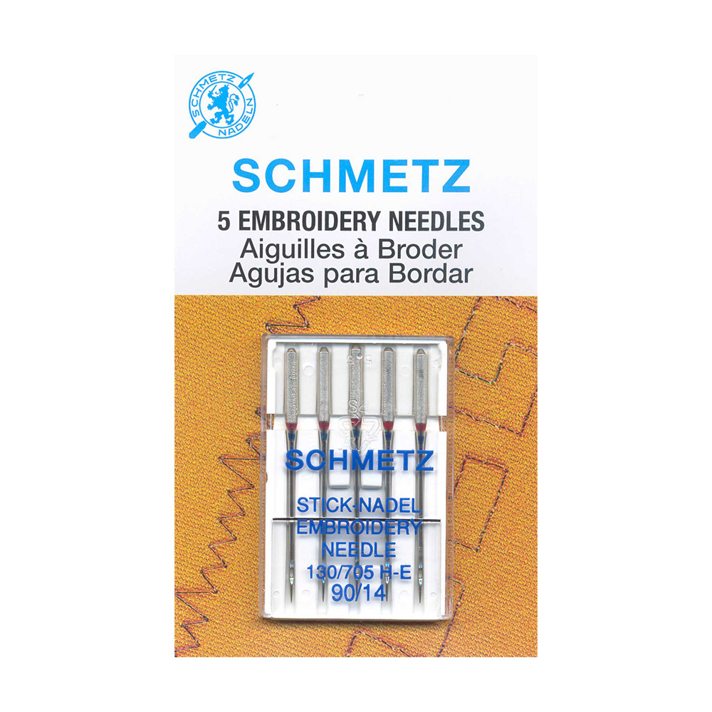 SCHMETZ Embroidery Needles Carded - 90/14 - 5 Pieces