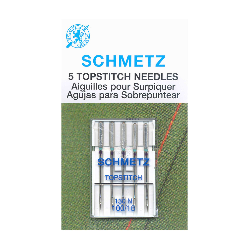 SCHMETZ Topstitch Needles Carded - 100/16 - 5 Pieces