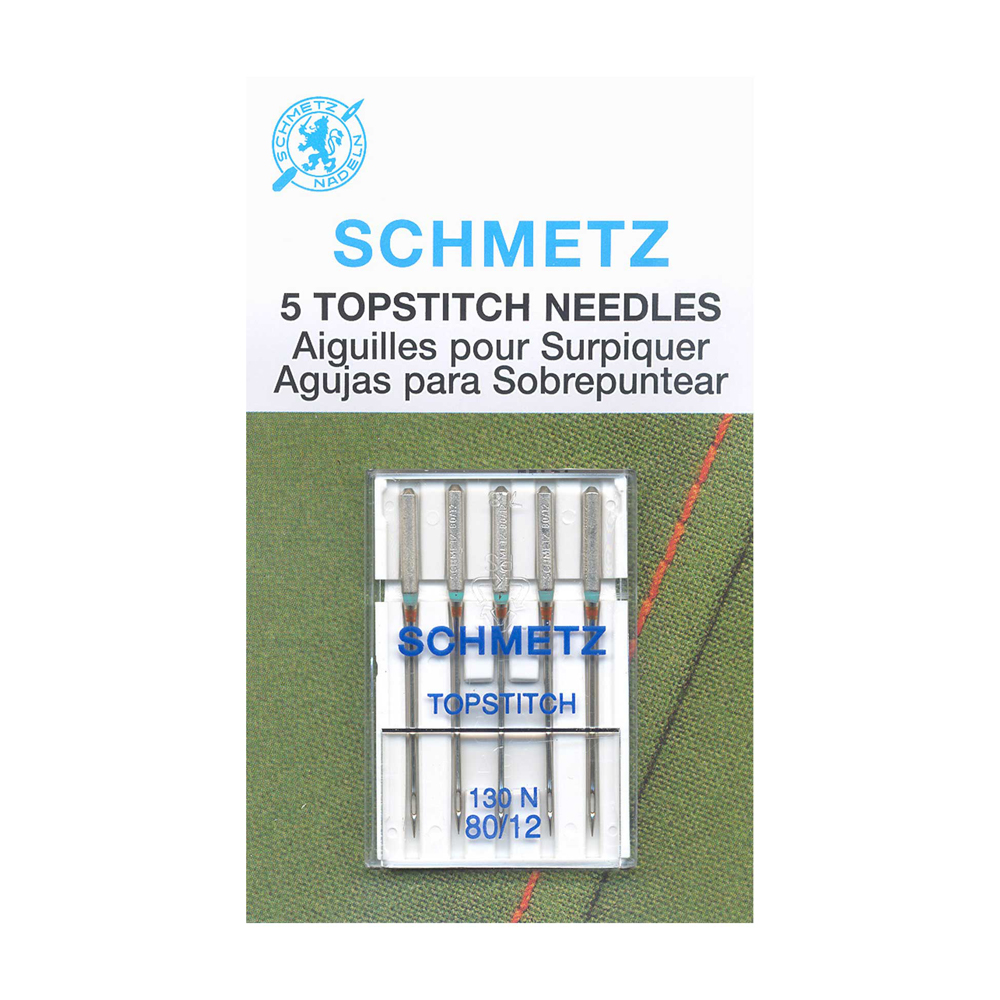 SCHMETZ Topstitch Needles Carded - 80/12 - 5 Pieces