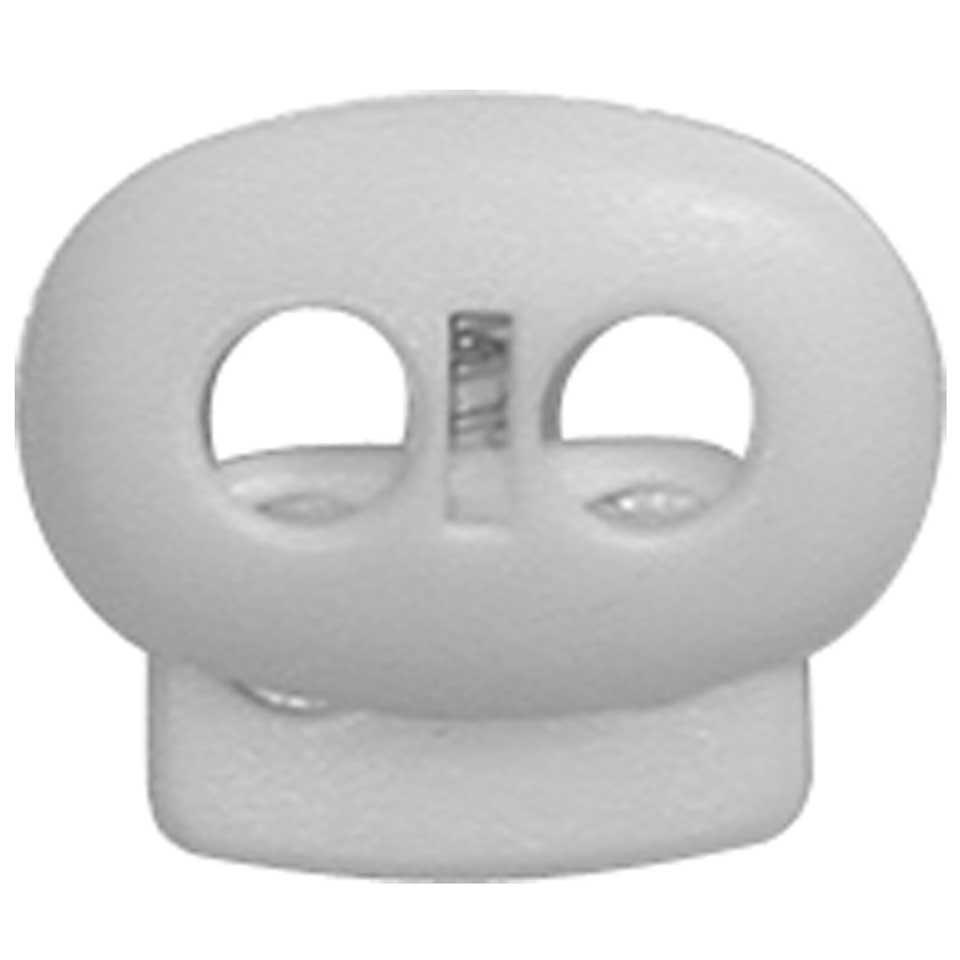 ELAN Flat Cord Stop - 2 Hole - White