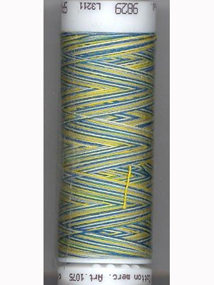 Mettler Silk-Finish 50wt Variegated Cotton Thread 109yd/100M China Blue