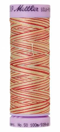 Mettler Silk-Finish 50wt Variegated Cotton Thread 109yd/100M Antique Floral