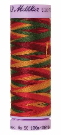 Mettler Silk-Finish 50wt Variegated Cotton Thread 109yd/100M Poppy Garden