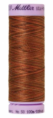 Mettler Silk-Finish 50wt Variegated Cotton Thread 109yd/100M Chocolatte