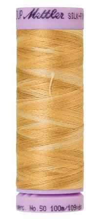 Mettler Silk-Finish 50wt Variegated Cotton Thread 109yd/100M Bleached Straw