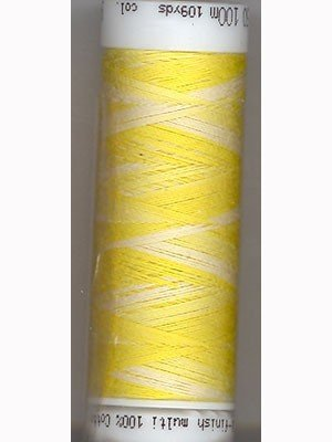 Mettler Silk-Finish 50wt Variegated Cotton Thread 109yd/100M Canary Yellow