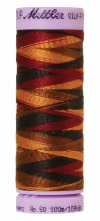 Mettler Silk-Finish 50wt Variegated Cotton Thread 109yd/100M Elegante