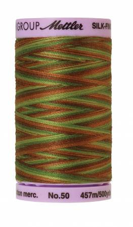 Mettler Silk-Finish 50wt Variegated Cotton Thread 500yd/457M Forest Land