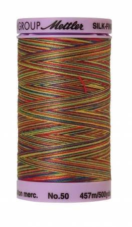 Mettler Silk-Finish 50wt Variegated Cotton Thread 500yd/457M Prime Kids