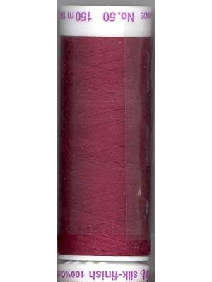Metter Silk-Finish 50wt Solid Cotton Thread 164yd/150M Bordeaux