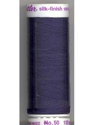 Metter Silk-Finish 50wt Solid Cotton Thread 164yd/150M Space