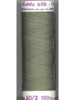 Mettler Silk-Finish 50wt Solid Cotton Thread 164yd/150M Seagrass