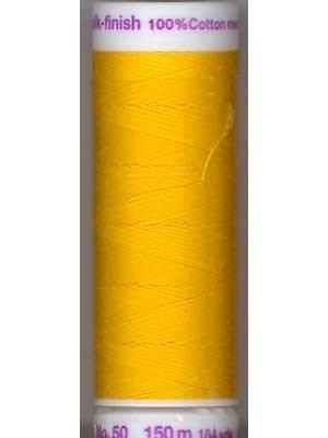 Mettler Silk-Finish 50wt Solid Cotton Thread 164yd/150M Citrus