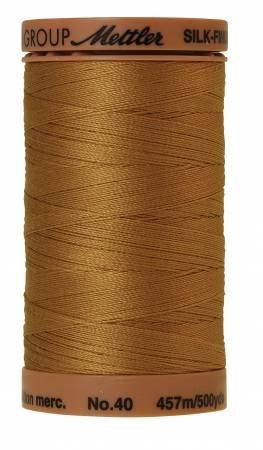 Mettler Silk-Finish 40wt Solid Cotton Thread 500yd/457M Sisal
