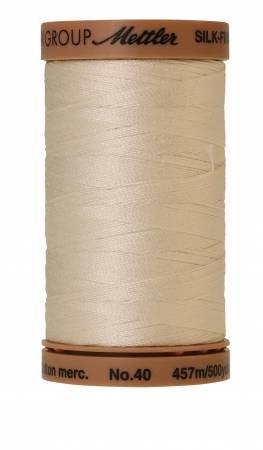Mettler Silk-Finish 40wt Solid Cotton Thread 500yd/457M Muslin