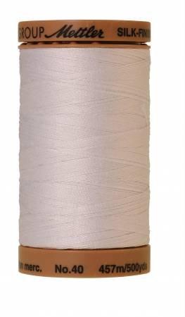 Mettler Silk-Finish 40wt Solid Cotton Thread 500yd/457M White