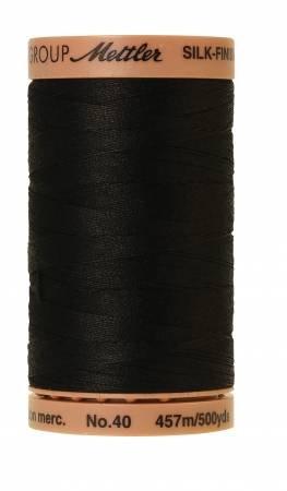 Mettler Silk-Finish 40wt Solid Cotton Thread 500yd/457M Black