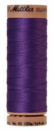 Mettler Silk-Finish 40wt Solid Cotton Thread 164yd/150M Iris Blue
