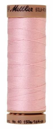 Mettler Silk-Finish 40wt Solid Cotton Thread 164yd/150M Parfait Pink