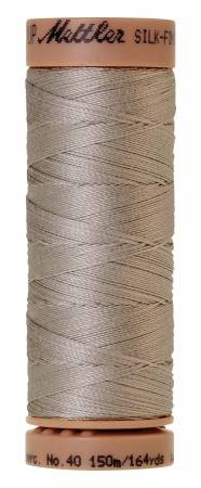 Mettler Silk-Finish 40wt Solid Cotton Thread 164yd/150M Ash Mist