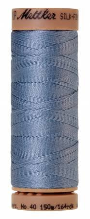Mettler Silk-Finish 40wt Solid Cotton Thread 164yd/150M Summer Sky