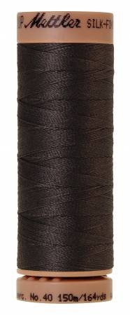Mettler Silk-Finish 40wt Solid Cotton Thread 164yd/150M Charcoal